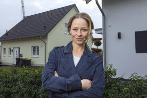 Theresa Scholze am Set